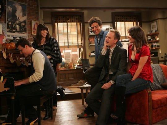 "Marshall (Jason Segel) sings ""You Just Got Slapped"" in the ""Slapsgiving"" episode of ""How I Met Your Mother."""