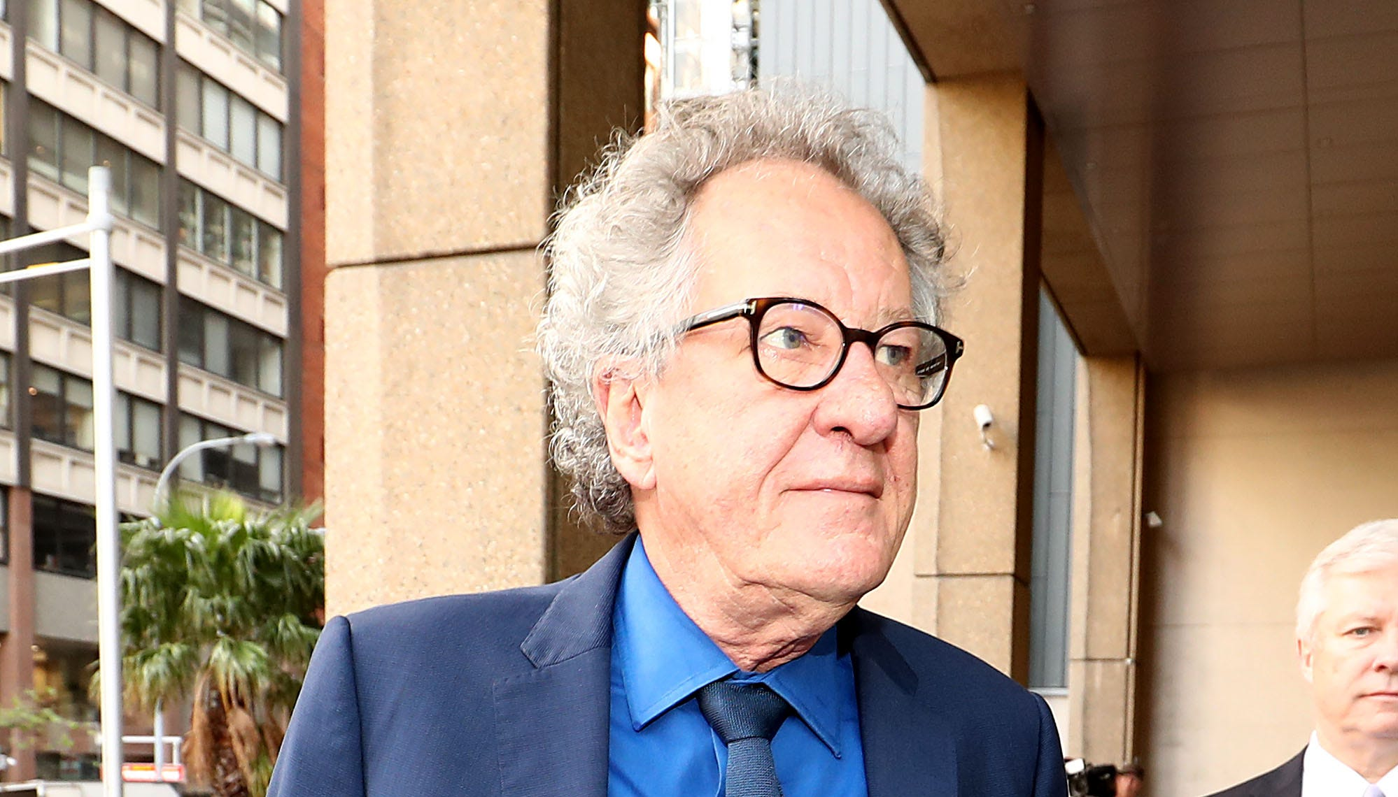 Geoffrey Rush arrives at the Federal Law court on Nov. 9, 2018 in Sydney, Australia.