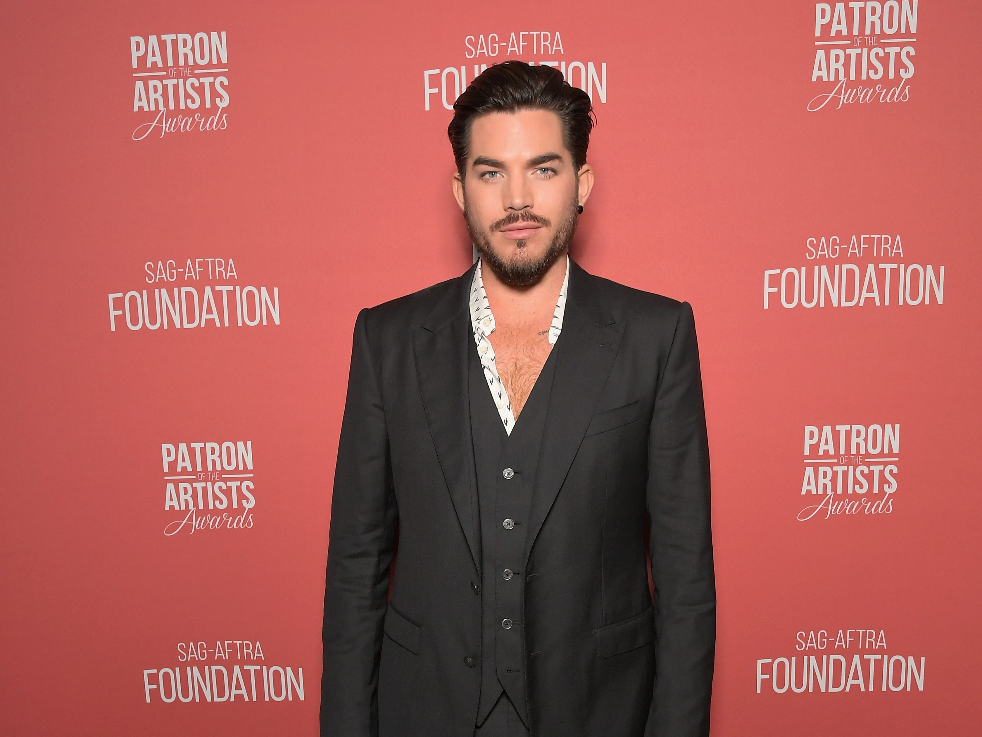 BEVERLY HILLS, CA - NOVEMBER 08:  Adam Lambert attends the SAG-AFTRA Foundation's 3rd Annual Patron of the Artists Awards at the Wallis Annenberg Center for the Performing Arts on November 8, 2018 in Beverly Hills, California.  (Photo by Charley Gallay/Getty Images for SAG-AFTRA Foundation) ORG XMIT: 775247555 ORIG FILE ID: 1059475032