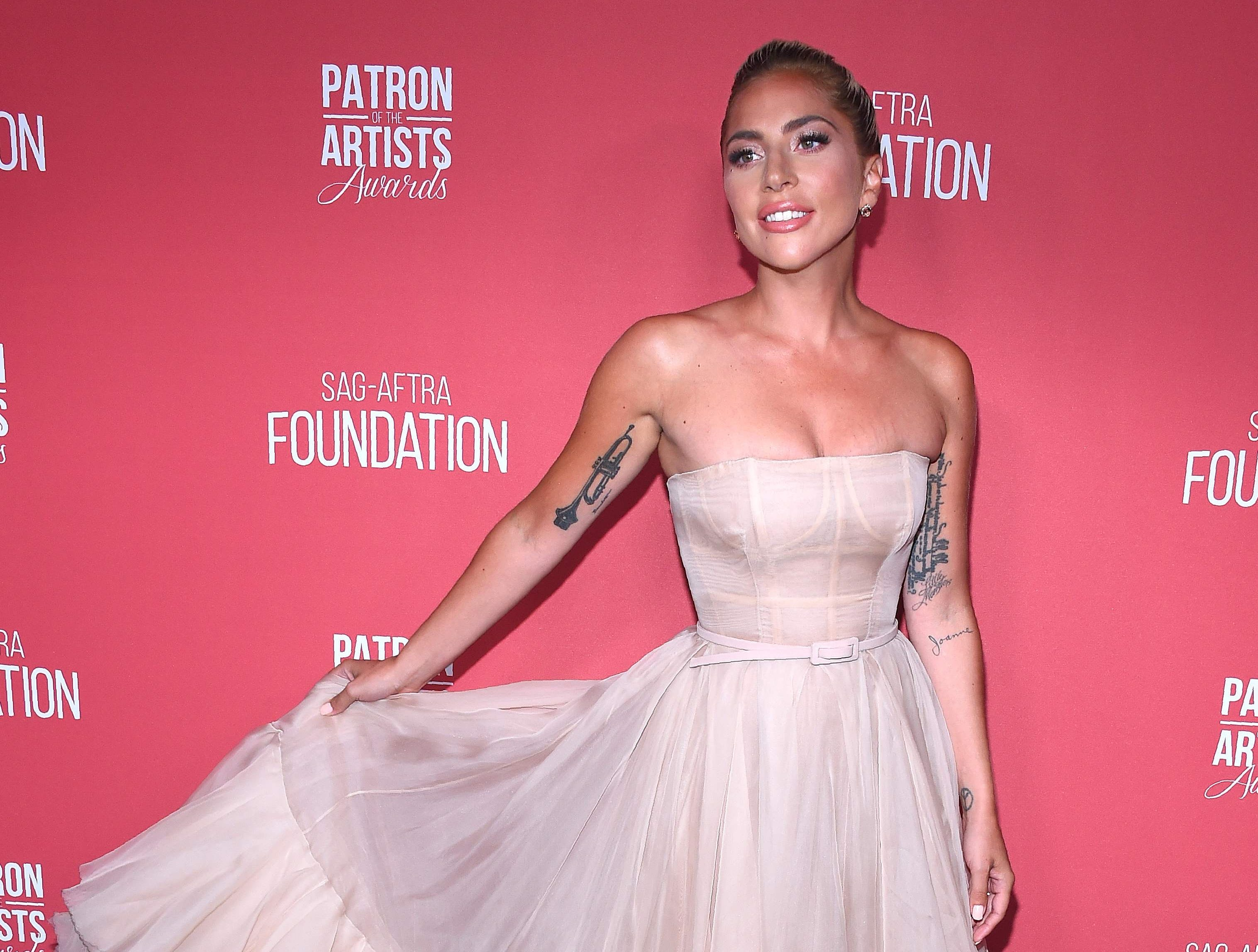 Singer/actress Lady Gaga attends the The SAG-AFTRA Foundation 3rd Patron of the Artists Awards in Los Angeles, California, on November 8, 2018. (Photo by LISA O'CONNOR / AFP)LISA O'CONNOR/AFP/Getty Images ORG XMIT: The SAG-A ORIG FILE ID: AFP_1AP1PE