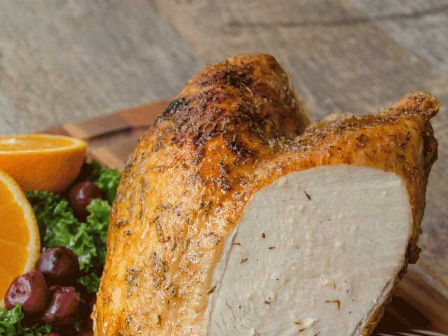 Using your air fryer to cook turkey breast with this recipe results in a delicious, crispy, brown skin and juicy, tender meat. What more could you ask for?