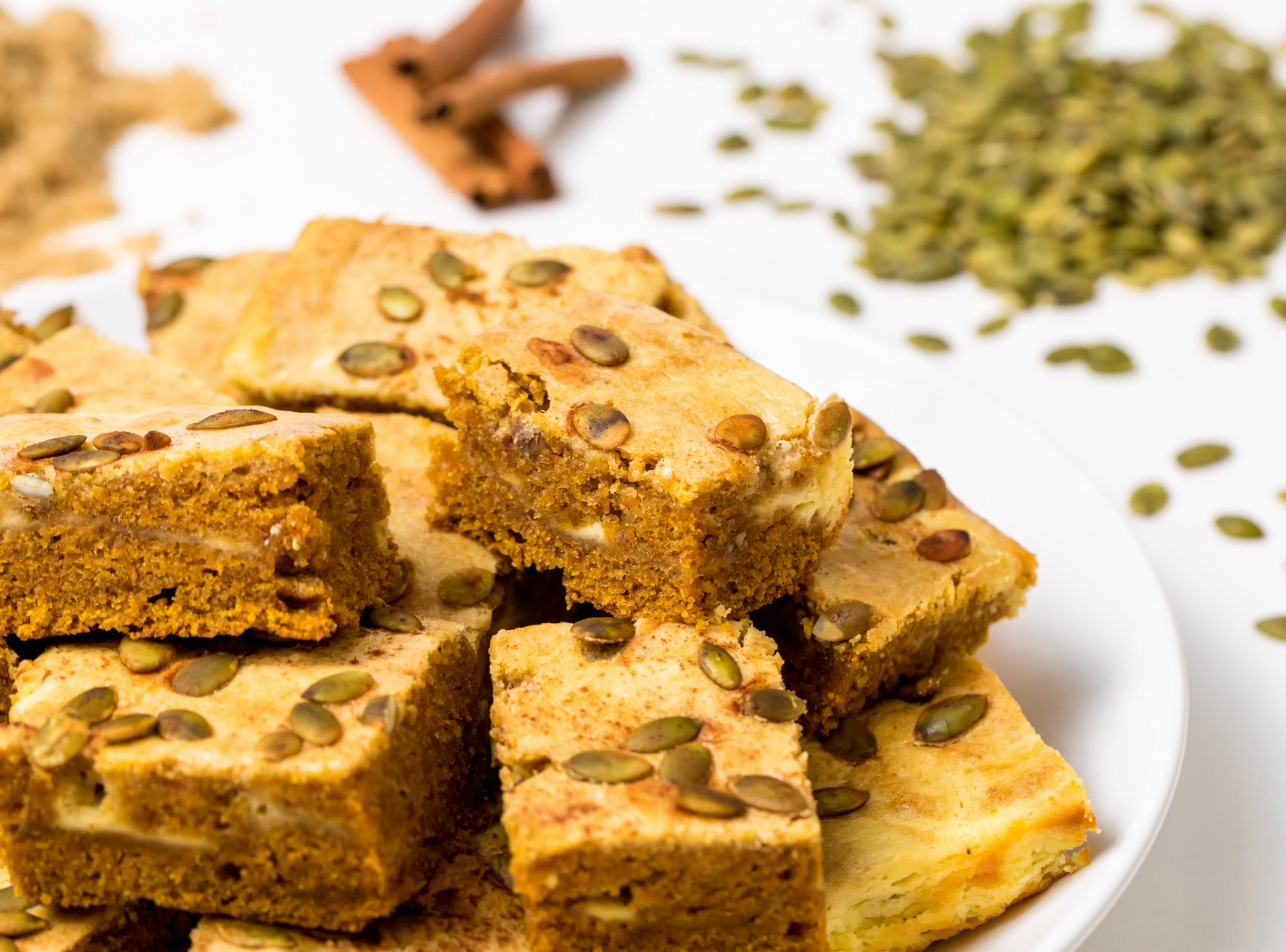 Looking for an outrageously rich pumpkin dessert to celebrate fall and all its warm, cozy flavors? Make these pumpkin cream cheese swirl bars, inspired by Sally's Baking Addiction, and you'll find yourself throwing a weekly harvest party just to eat dessert.