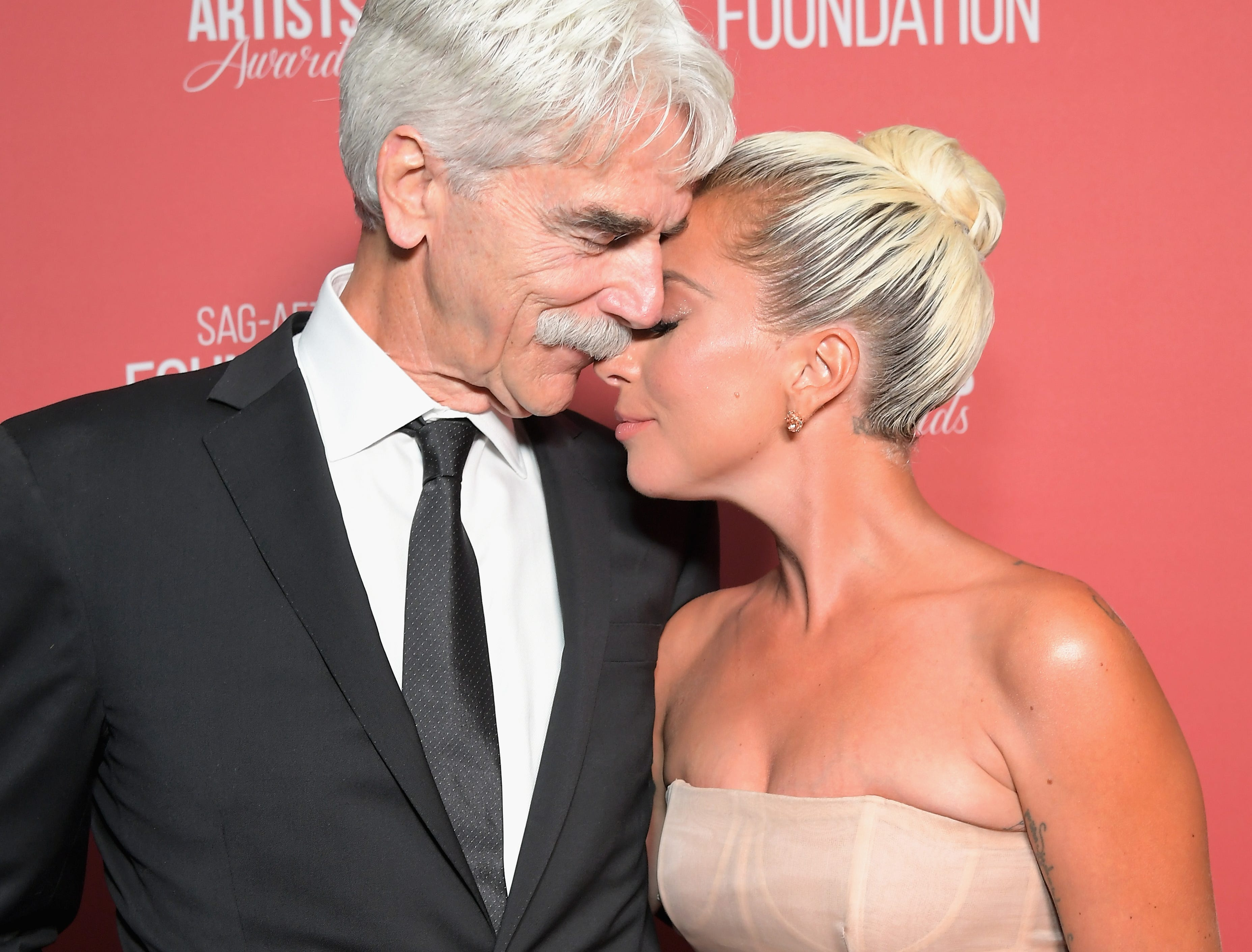 BEVERLY HILLS, CA - NOVEMBER 08:  Sam Elliott and Artists Inspiration Award recipient Lady Gaga attend the SAG-AFTRA Foundation's 3rd Annual Patron of the Artists Awards at the Wallis Annenberg Center for the Performing Arts on November 8, 2018 in Beverly Hills, California.  (Photo by Charley Gallay/Getty Images for SAG-AFTRA Foundation) ORG XMIT: 775247555 ORIG FILE ID: 1059475052
