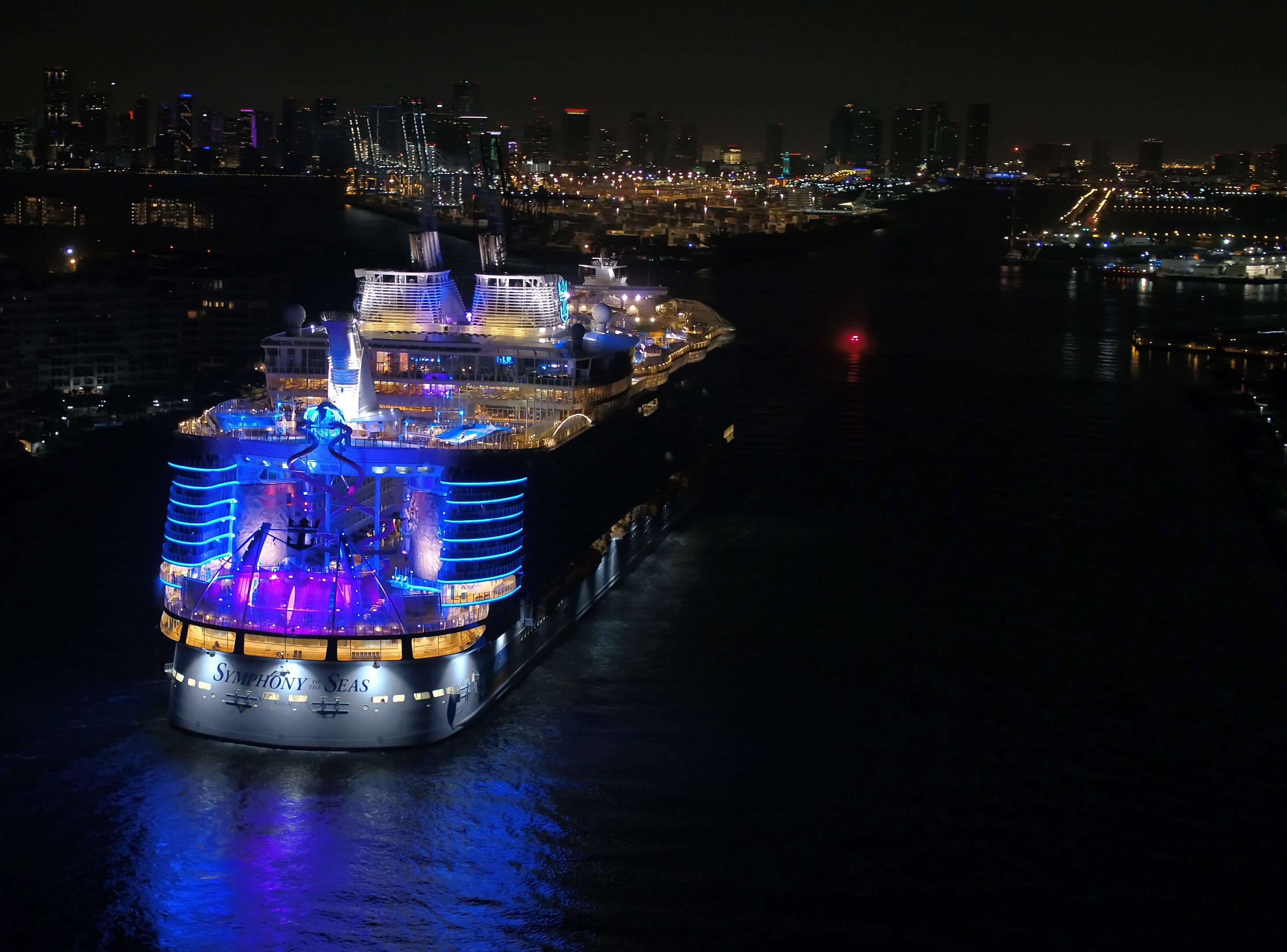 Symphony of the Seas will be christened at the Port of Miami on Nov. 15, 2018 by actors Carlos and Alexa PenaVega, along with their 17-month-old son Ocean.
