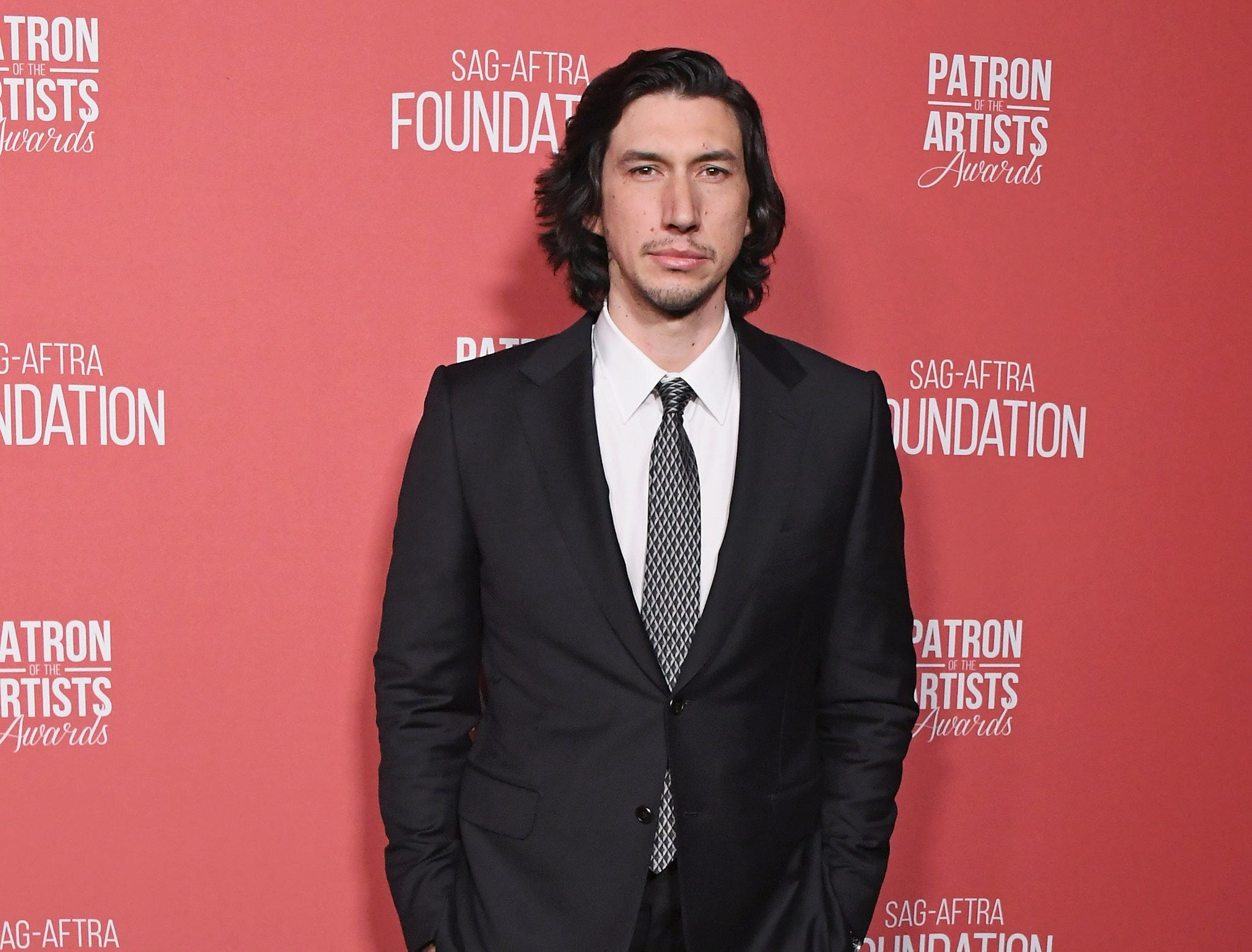 BEVERLY HILLS, CA - NOVEMBER 08:  Adam Driver attends SAG-AFTRA Foundation's 3rd Annual Patron Of The Artists Awards at Wallis Annenberg Center for the Performing Arts on November 8, 2018 in Beverly Hills, California.  (Photo by Jon Kopaloff/FilmMagic) ORG XMIT: 775233471 ORIG FILE ID: 1059469648
