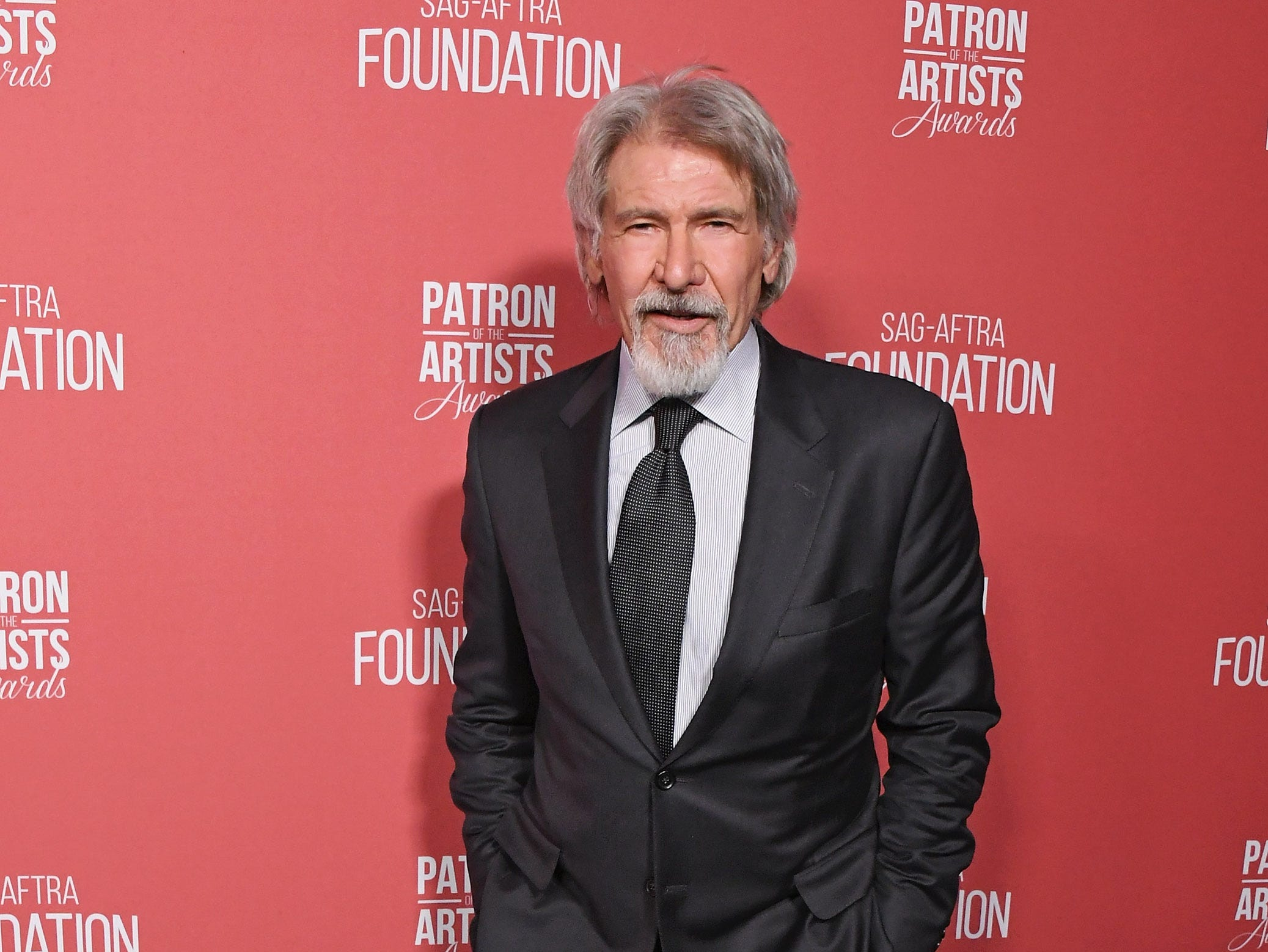 BEVERLY HILLS, CA - NOVEMBER 08:  Harrison Ford attends SAG-AFTRA Foundation's 3rd Annual Patron Of The Artists Awards at Wallis Annenberg Center for the Performing Arts on November 8, 2018 in Beverly Hills, California.  (Photo by Jon Kopaloff/FilmMagic) ORG XMIT: 775233471 ORIG FILE ID: 1059469768