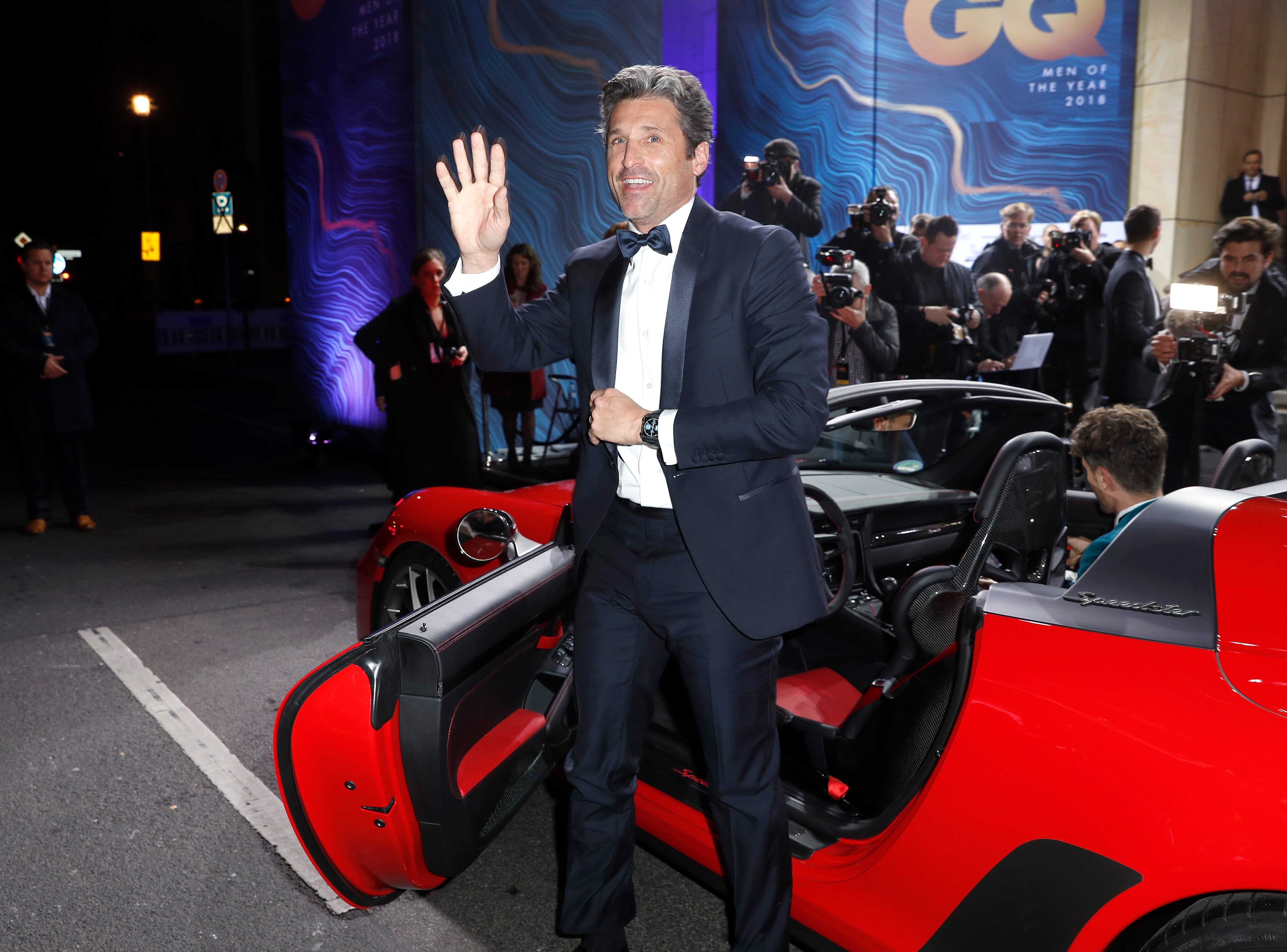 BERLIN, GERMANY - NOVEMBER 08:  Patrick Dempsey arrives for the 20th GQ Men of the Year Award at Komische Oper on November 8, 2018 in Berlin, Germany.  (Photo by Sebastian Reuter/Getty Images for GQ Germany) ORG XMIT: 775255967 ORIG FILE ID: 1059192576