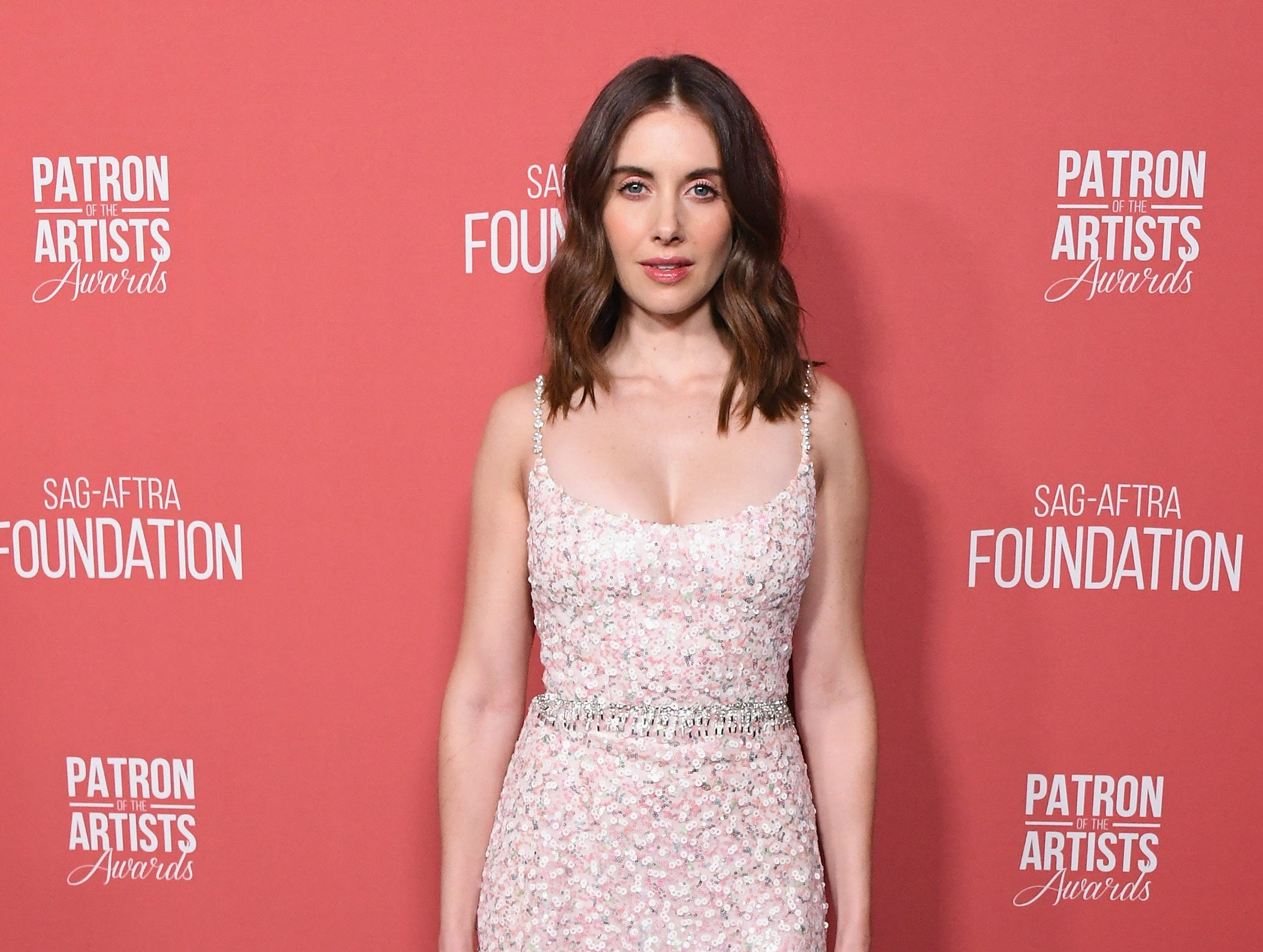 BEVERLY HILLS, CA - NOVEMBER 08:  Alison Brie attends SAG-AFTRA Foundation's 3rd Annual Patron Of The Artists Awards at Wallis Annenberg Center for the Performing Arts on November 8, 2018 in Beverly Hills, California.  (Photo by Jon Kopaloff/FilmMagic) ORG XMIT: 775233471 ORIG FILE ID: 1059469588