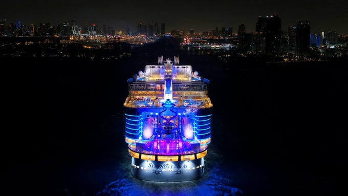 The new giant of cruising, Royal Caribbean's Symphony of the Seas, finally reached its year-round home of Miami early on Nov. 9, 2018.