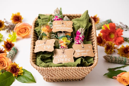 Thanksgiving sage bundles by Kathy Cano-Murillo of CraftyChica.com.