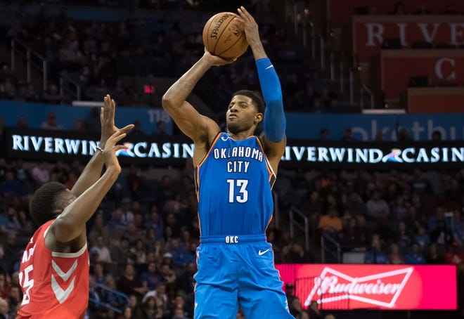 Paul George scored a game-high 20 points in the Thunder's seventh straight win.