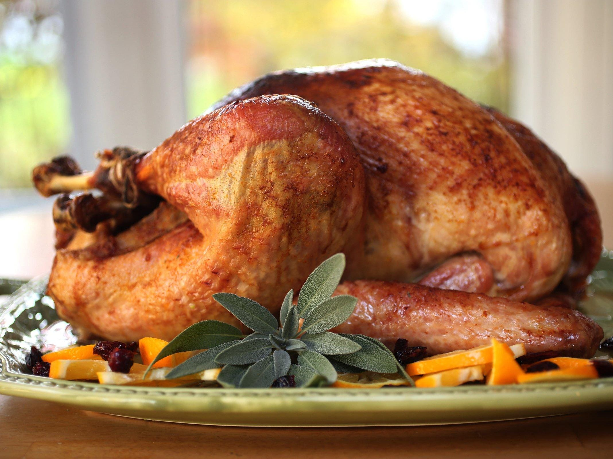 This sweet and spicy whole turkey recipe is kicked up a few notches thanks to the ginger and cayenne pepper. It's all balanced with a bit of sweetness from the brown sugar and honey glaze.