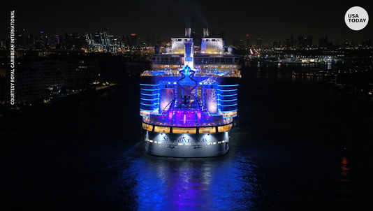 Royal Caribbean's Symphony of the Seas brings light show to Port of Miami