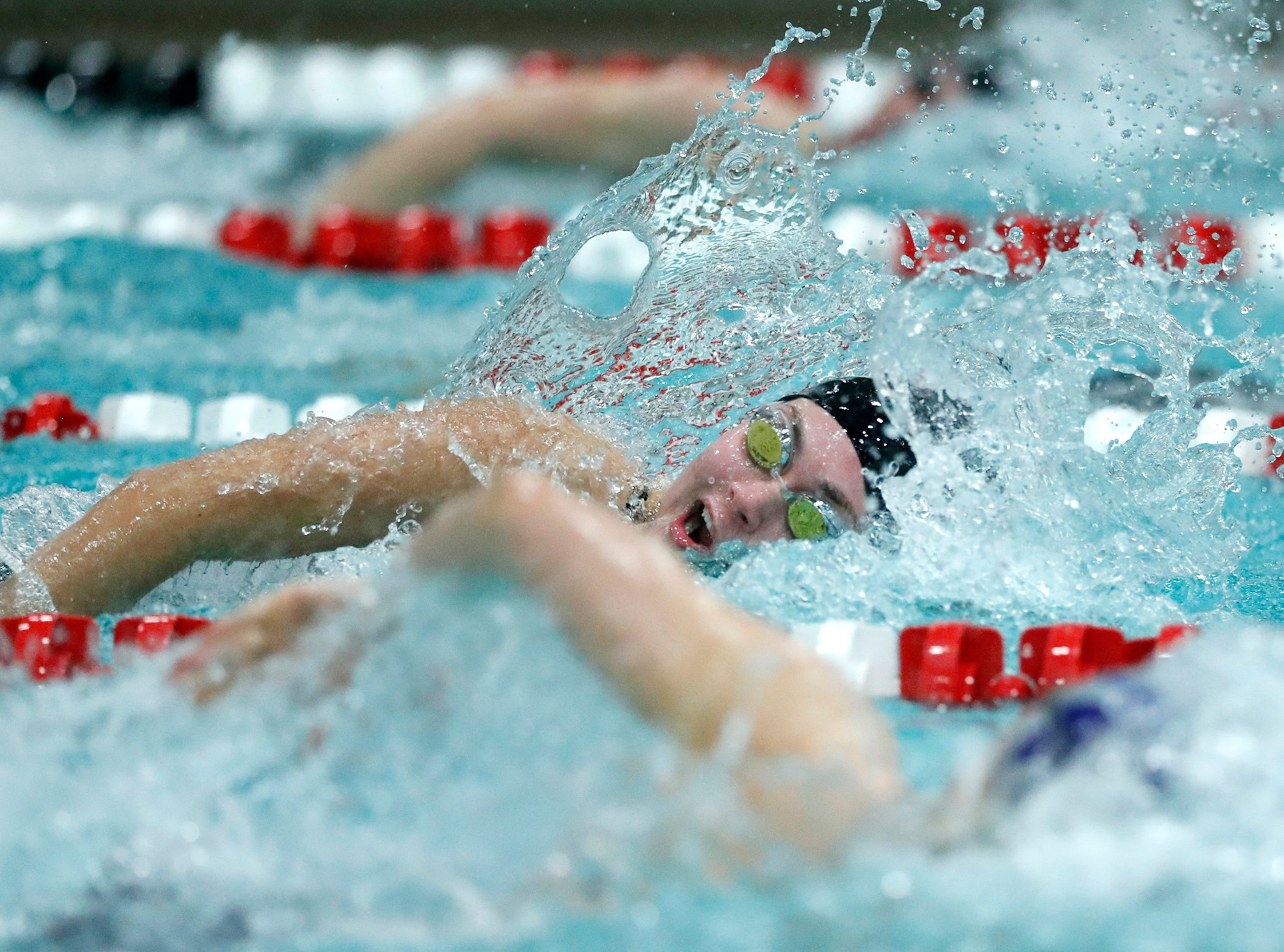 Sturgeon Bay Co-op's Molly Banks races in the 100 yard freestyle during the WIAA Division 2 State Swimming and Diving meet Friday, Nov. 9, 2018, at the UW Natatorium in Madison, Wis.Danny Damiani/USA TODAY NETWORK-Wisconsin