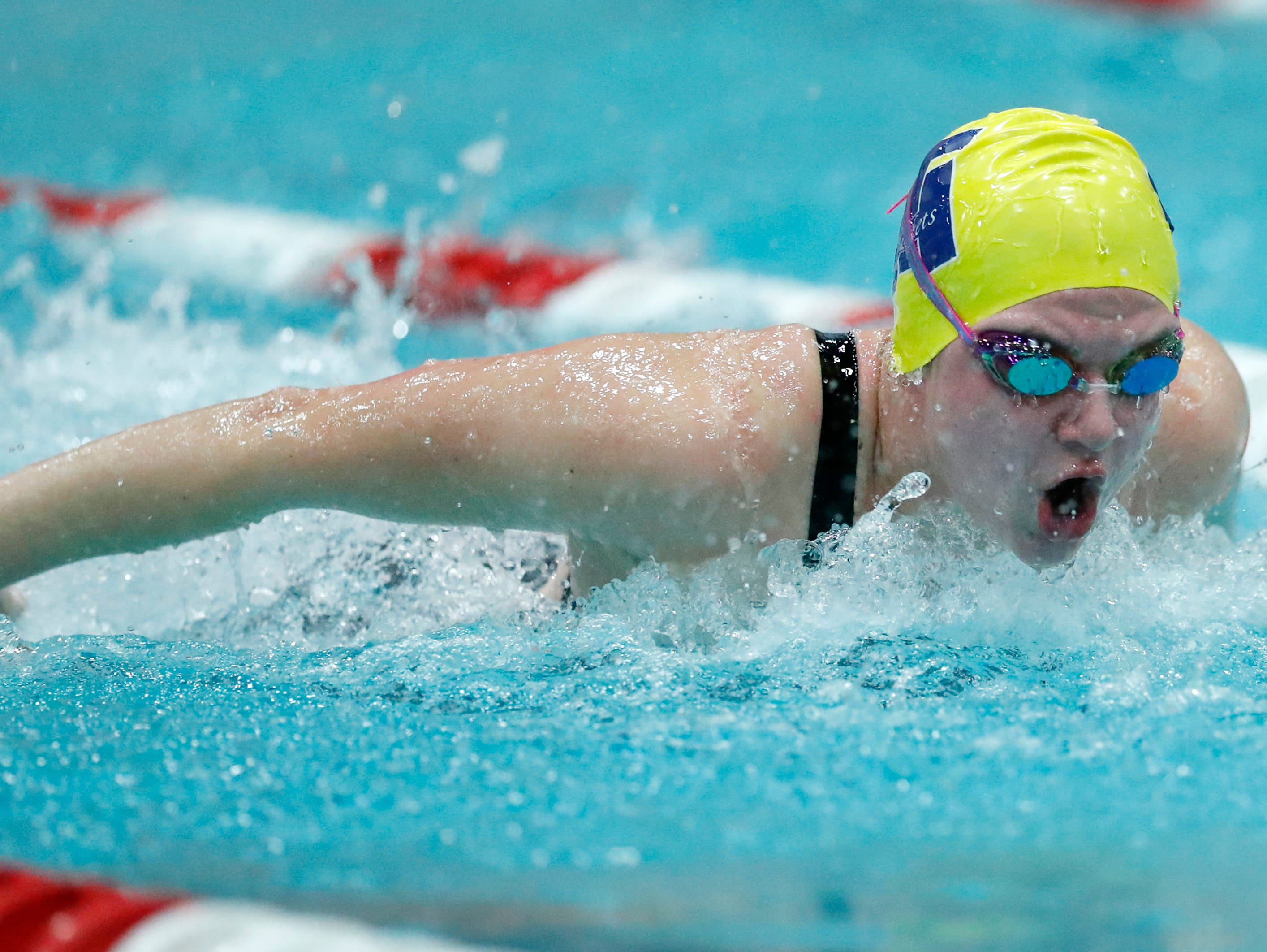 Tomahawk's Kaylie Svacina races in the 200 yard individual medley during the WIAA Division 2 State Swimming and Diving meet Friday, Nov. 9, 2018, at the UW Natatorium in Madison, Wis.Danny Damiani/USA TODAY NETWORK-Wisconsin