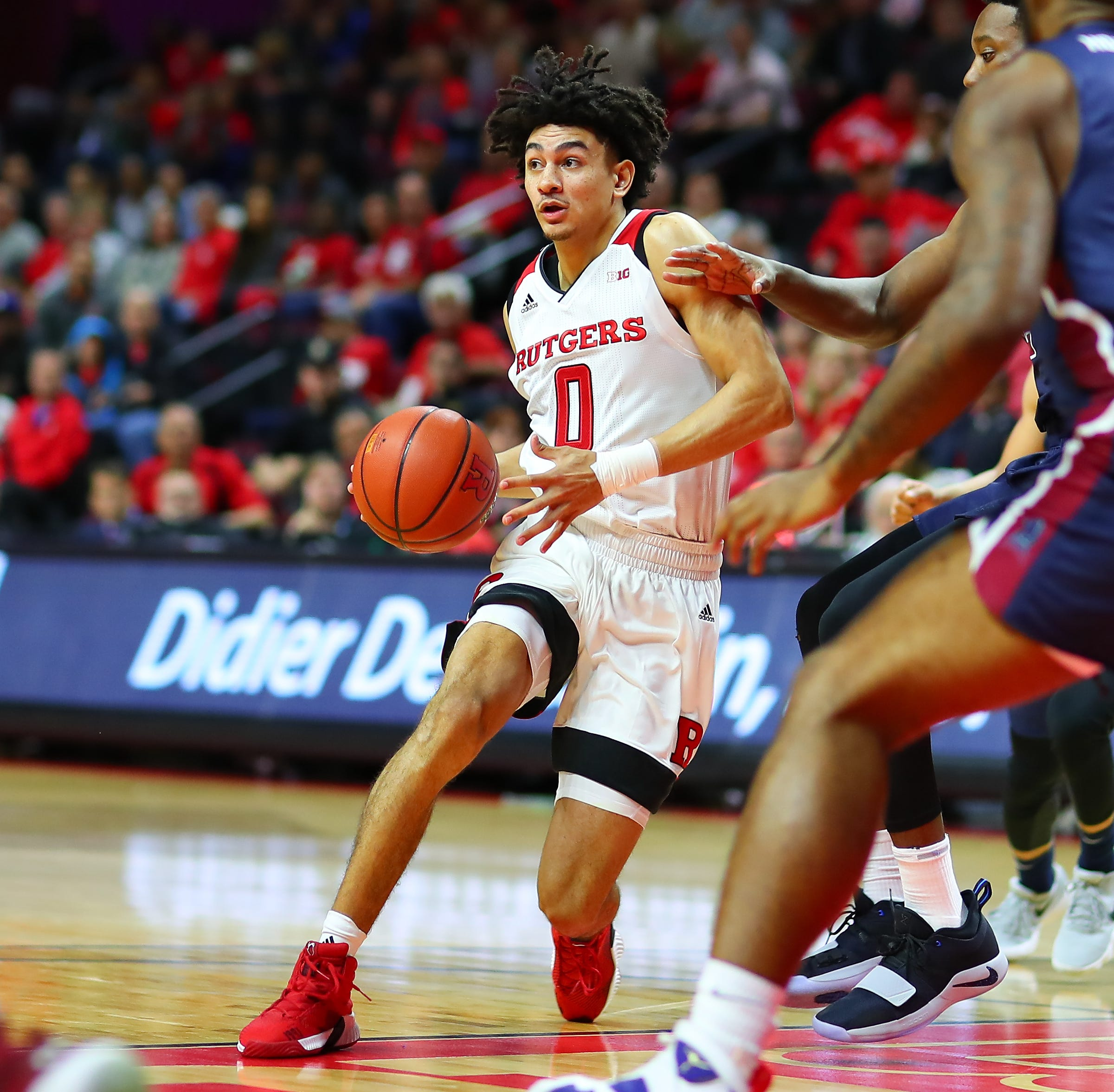 Rutgers hoops: Geo Baker's turn at point guard begins in rout of Fairleigh Dickinson