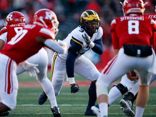 Ncaa Football Michigan At Rutgers