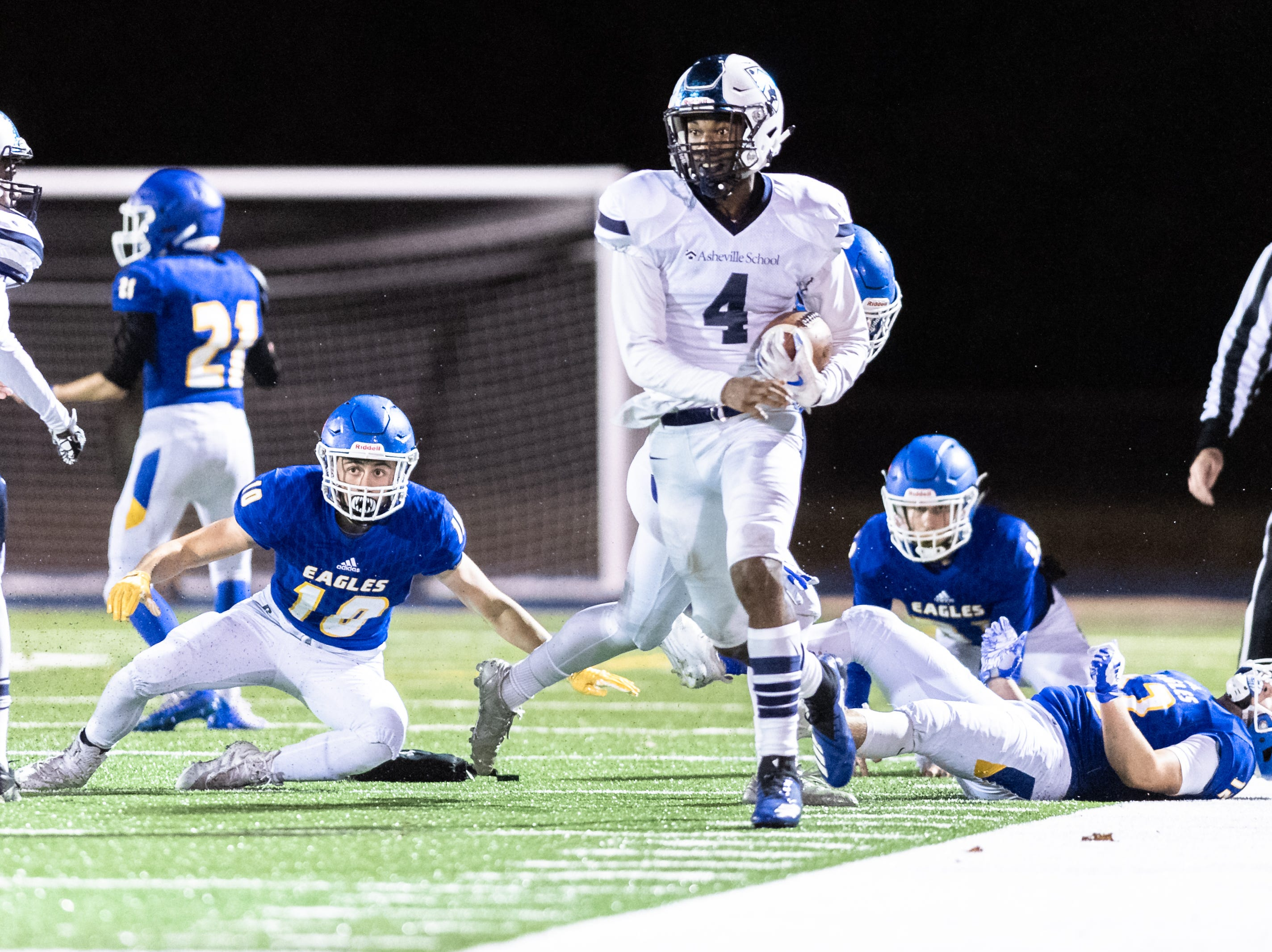The Asheville School football team hosted Southlake Christian for their second round semifinals Friday night football game Nov. 9, 2018.