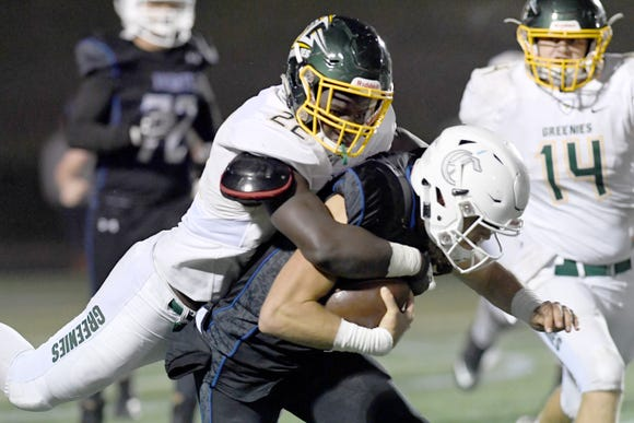 Christ School took on Charlotte Christian in the NCISAA Division I State Championship game at Charlotte Christian School on Nov. 9, 2018. The Greenies fell to the Knights 43-14.