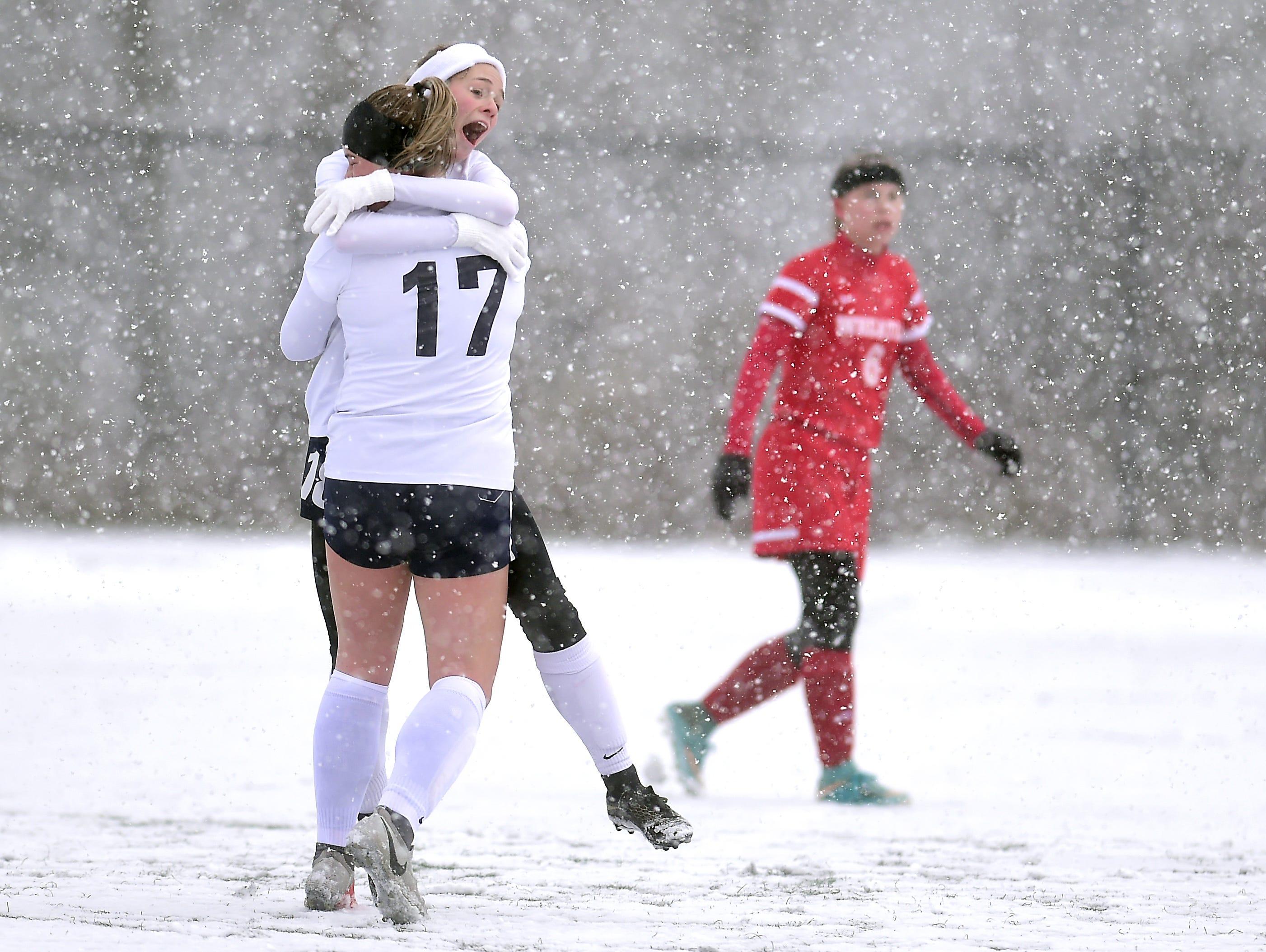 Chenango Forks vs. Wheatley, NYSPHSAA Girls Soccer Championship, Cortland High School, Cortland, NY. Saturday, November 10, 2018.