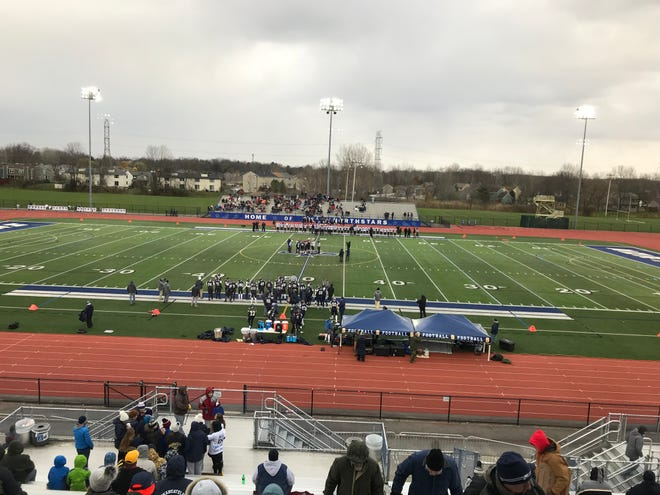 A look from above at last season's quarterfinal against Skaneateles.