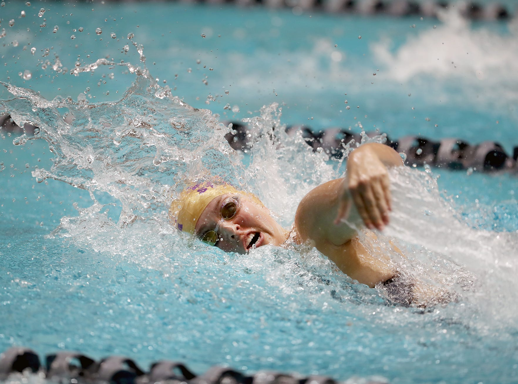 The North Kitsap Girls swim team won the team title at the 2018 2A Girls State Swim & Diving Championships on Saturday, November, 10 , 2018 at the King County Aquatics Center, in Federal Way.
