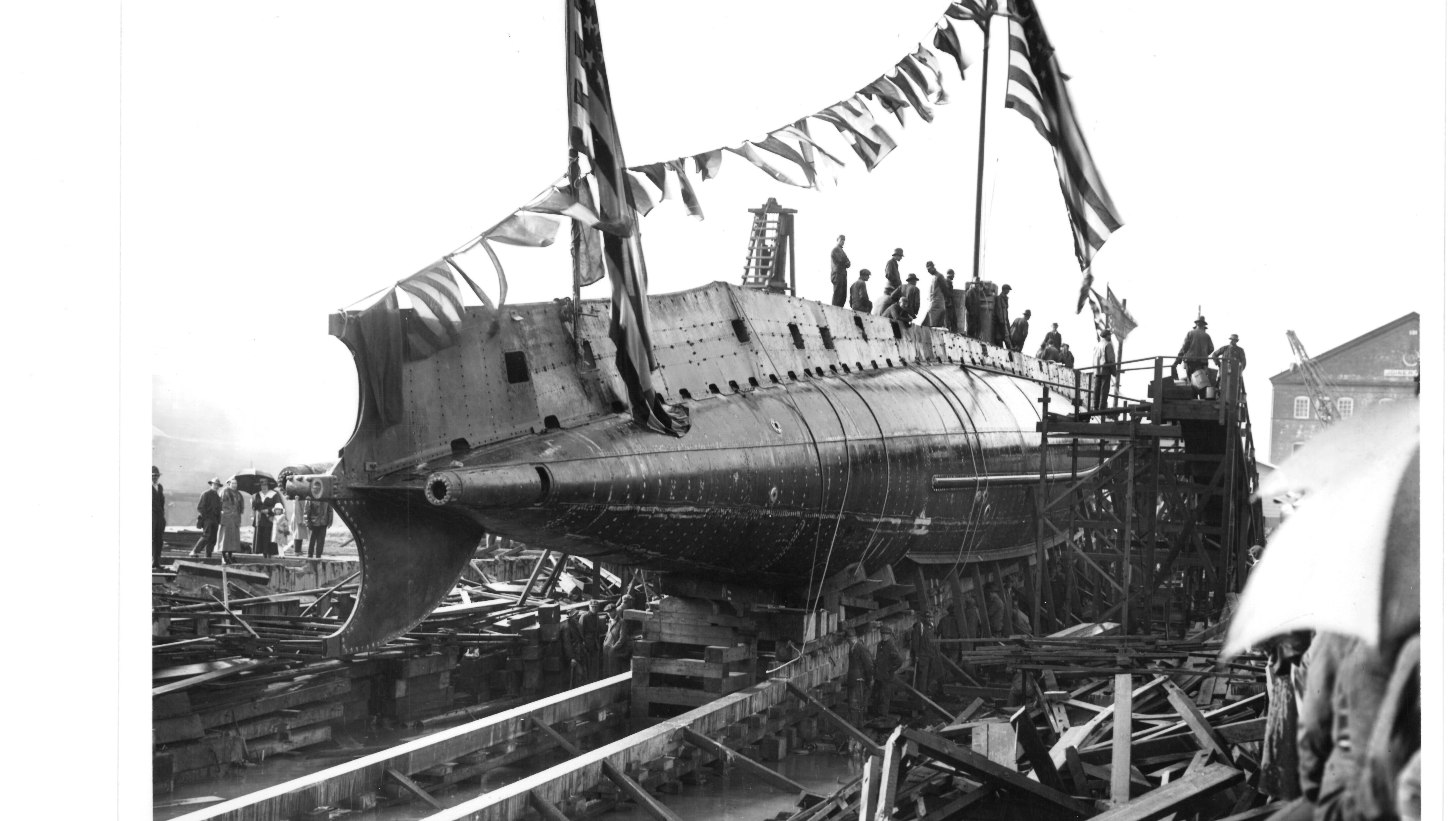 Launching of O-Two, dated 1918.