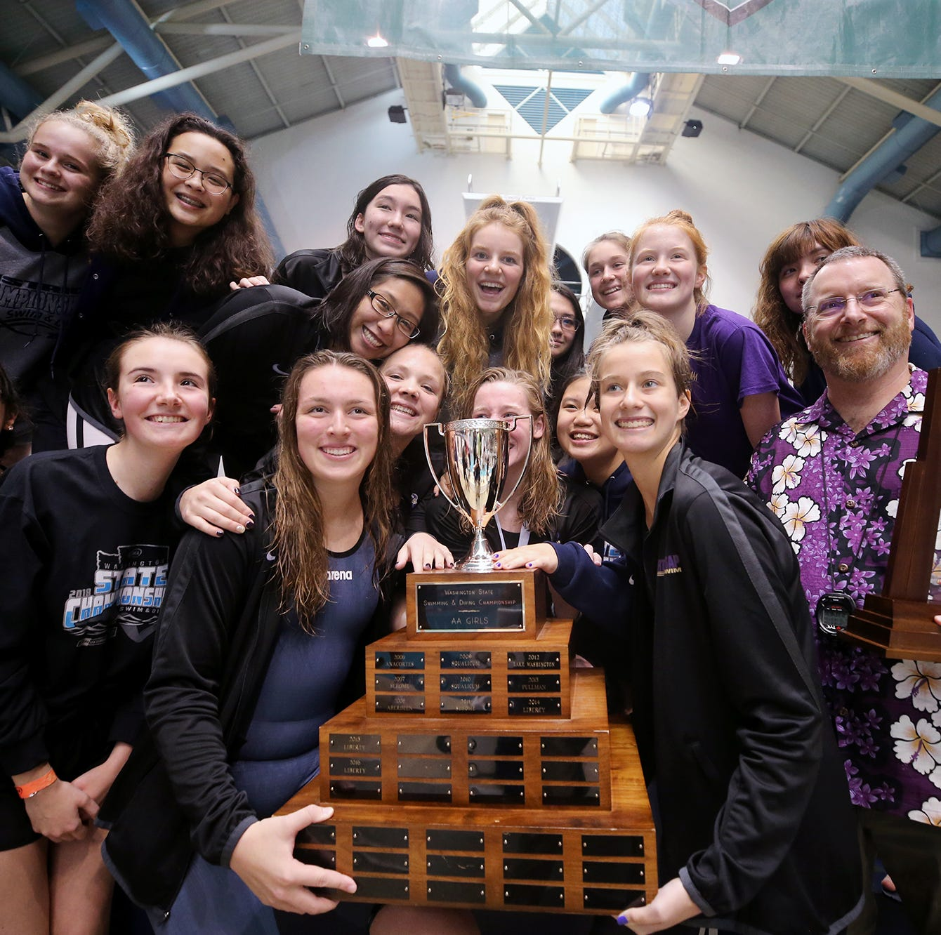 North Kitsap captures girls swimming state championship