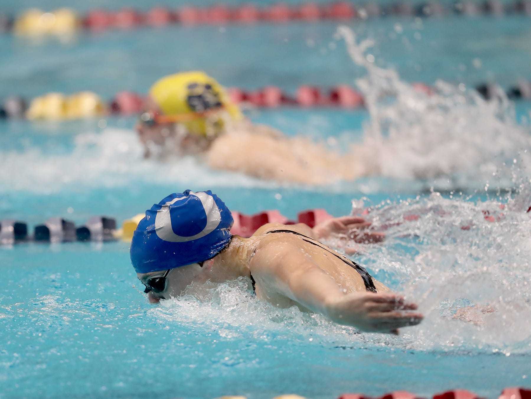 The North Kitsap Girls swim team won the team title at the 2018 2A Girls State Swim & Diving Championships on Saturday, November, 10, 2018 at the King County Aquatics Center, in Federal Way.  Olympic swimmer Chloe Partsch in the girls 200 yard IM. She won the event.