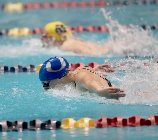 Olympic swimmer Chloe Partsch won the 200 IM title at Saturday's 2A state swim championships.