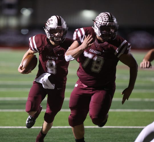 The Calallen Wildcats battle Port Lavaca Calhoun Sandcrabs at Phil Danaher Field at Wildcat Stadium in a new night of Texas high school football.