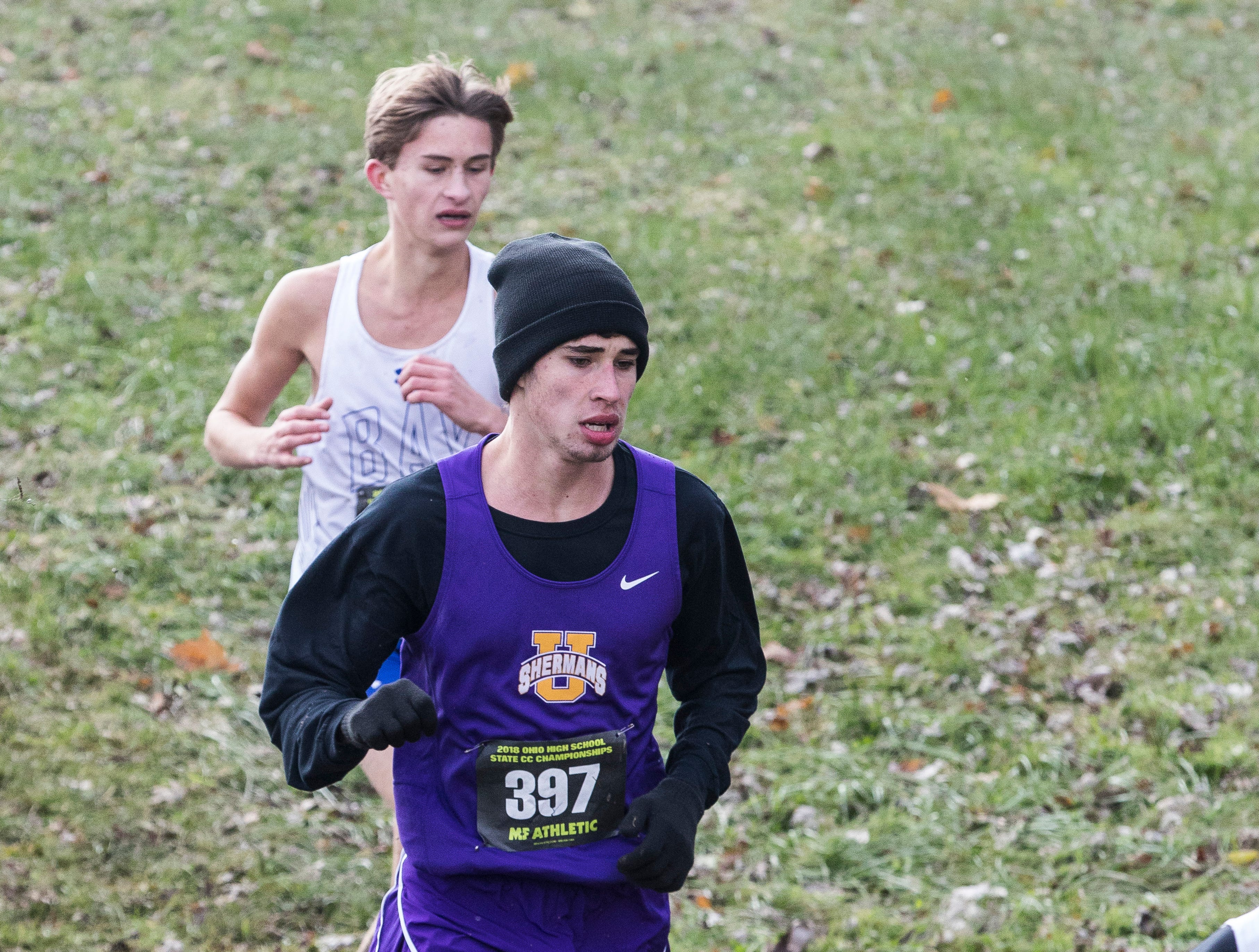 High school runners from all over Ohio competed at the 2018 OHSAA Cross-Country State Tournament on Saturday, November 10, 2018, at National Trail Raceway in Hebron, Ohio.