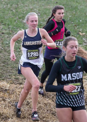Lancaster senior Elise Johnson competed in Saturday's Division I state cross country championships. Johnson finished 38th out of 176 runners.