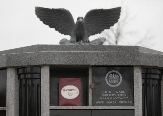 Three-war veteran John Edward Ward is the first serviceman to be interned in the new columbarium in Chillicothe's Greenlawn Cemetery's Soldiers Square.