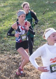 Zane Trace's Hannah Kerr finished 68 out of 179 runners with a total time of 21:05 at the 2018 OHSAA Cross-Country State Tournament on Saturday, November 10, 2018, at National Trail Raceway in Hebron, Ohio.