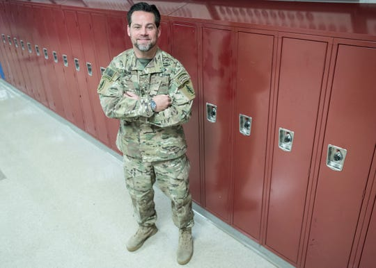 Wounded warrior and 1991 Zane Trace graduate Sean Clifton returned to the halls of Zane Trace on Friday, November 9, 2018, to talk to current Zane Trace students about his experiences in the military, what serving meant to him, and what makes a true hero today.