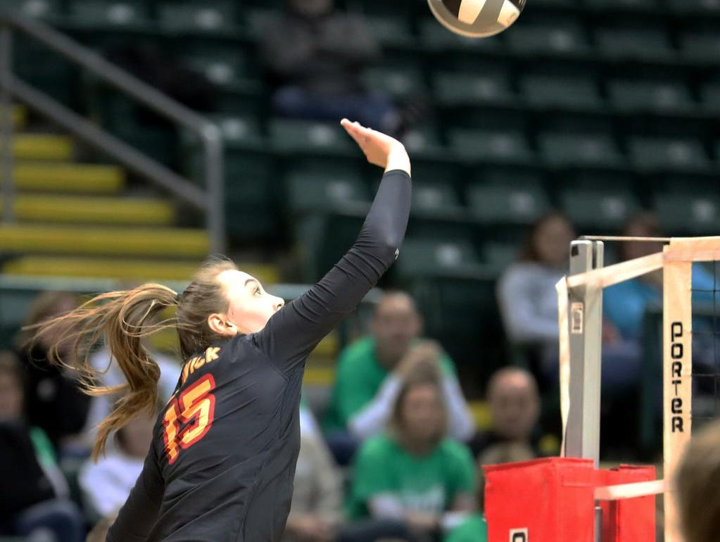 Bishop Fenwick  player  Julia Gordon (15) during their state semi-final game against Holy Name, Friday, Nov. 9, 2018.