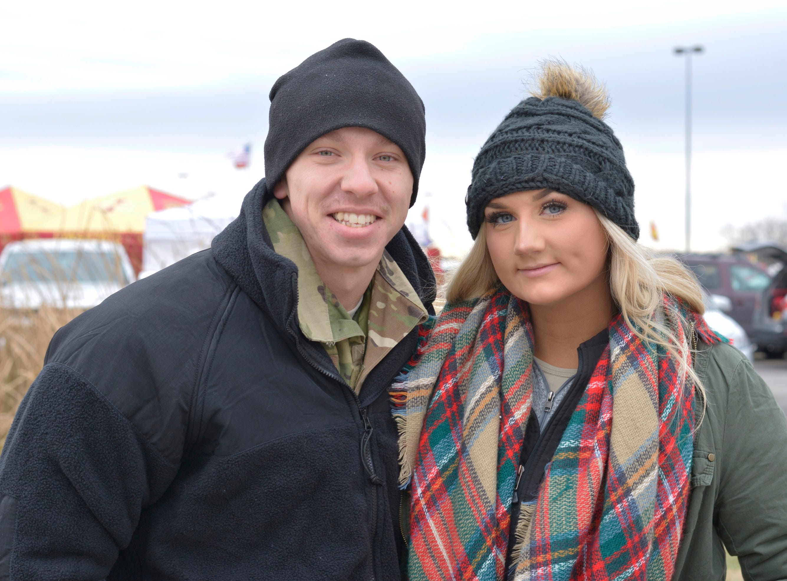 Ryan Hansen and Skylar Armstrong before the Iowa State University football game against Baylor in Ames on Nov. 10.