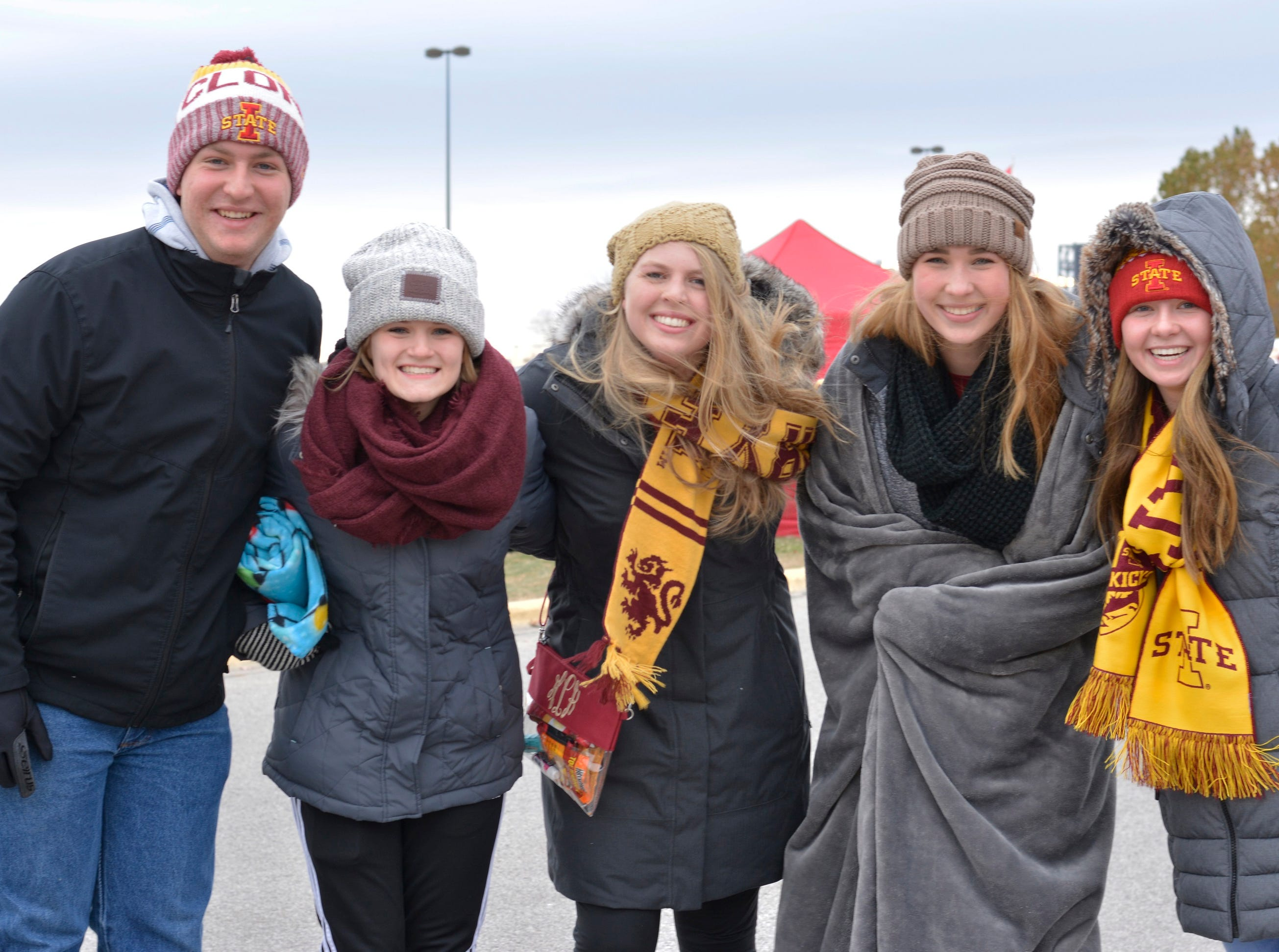 A group of Iowa State football fans before the Iowa State University football game against Baylor in Ames on Nov. 10.