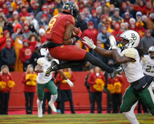 Deshaunte Jones has become a leader in Iowa State's wide receiver room.