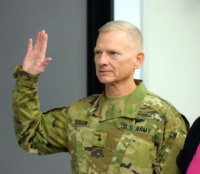 Stephen E. Osborn, of Johnston, has been promoted to the rank of brigadier general in the Iowa Army National Guard