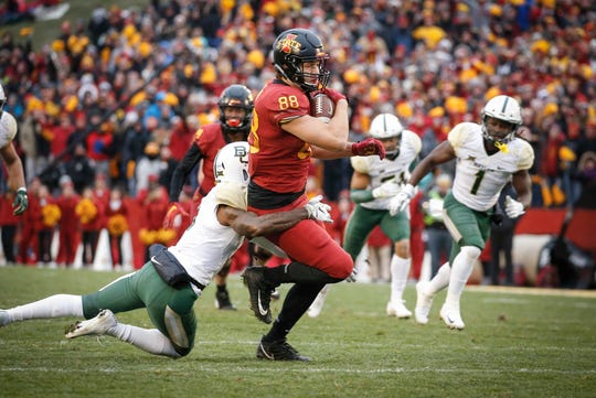 Iowa State tight end Charlie Kolar is coming off a big season.