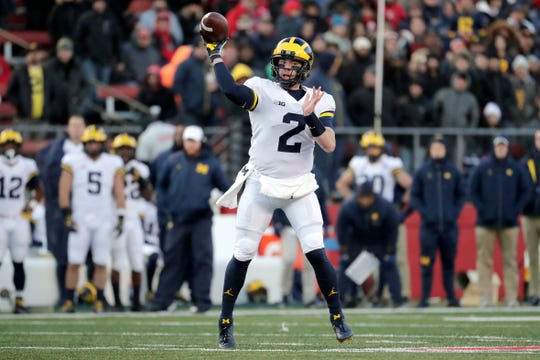 Shea Patterson threw 22 touchdowns and seven interceptions last season.