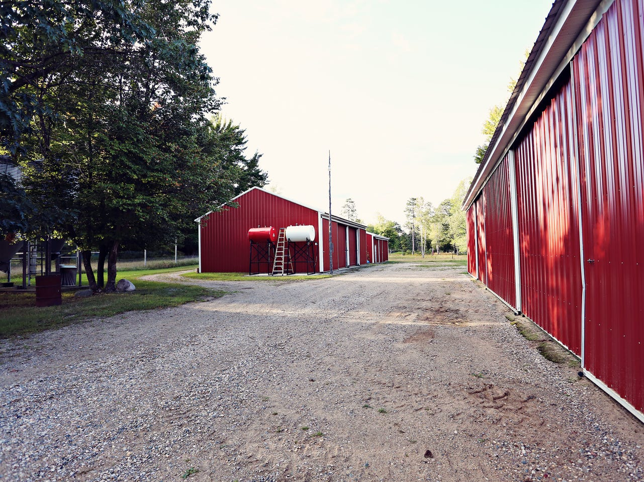 """1""""It's very unique and there are multiple homes and multiple pole barns on the property,"""" said Kyle O'Grady, the Realtor who listed the property."""