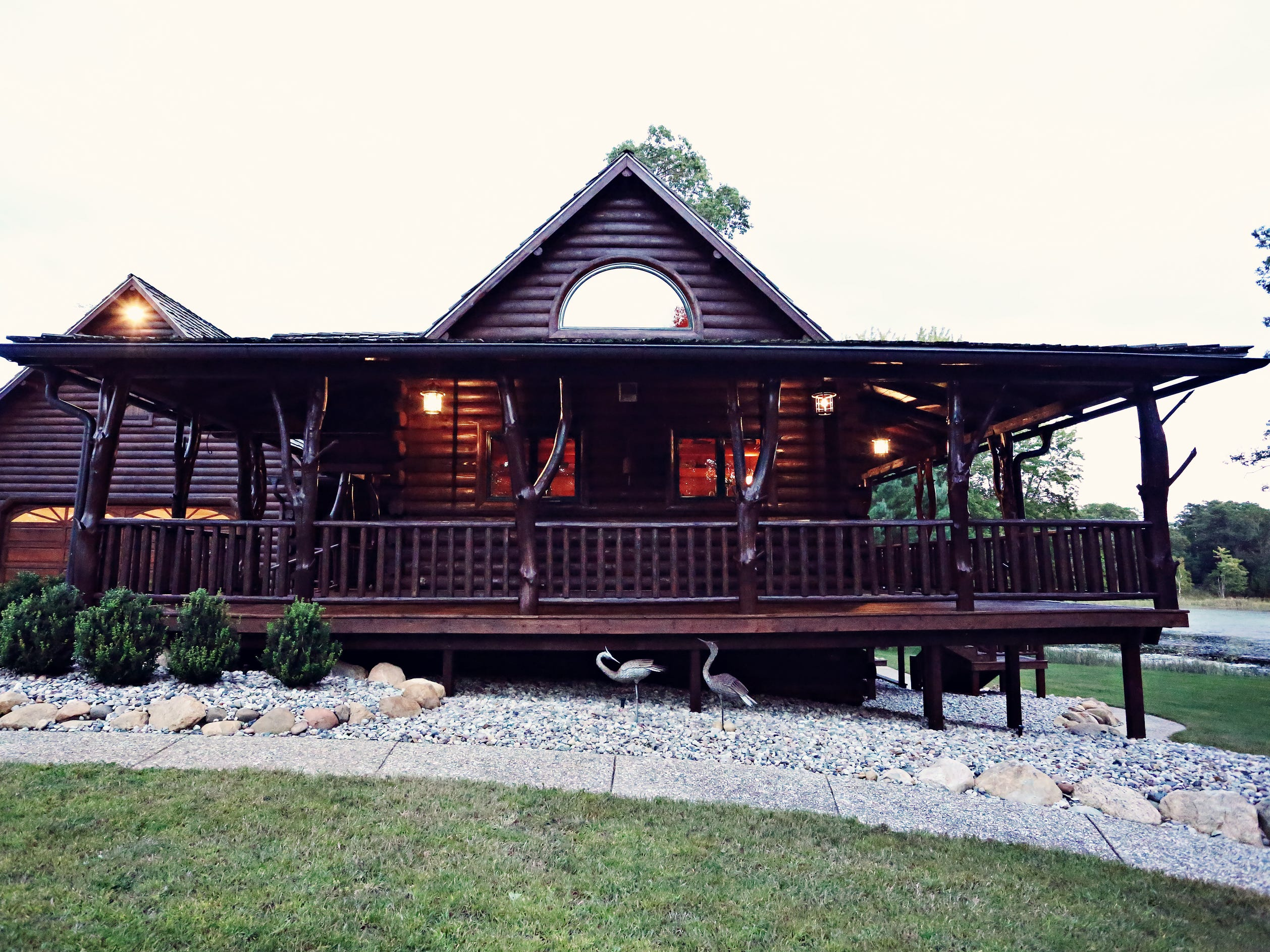 The ranch's log cabin, built in 2007, has five bedrooms, three bathrooms and a two-car garage. It also has a whole-house generator for back-up power supply.