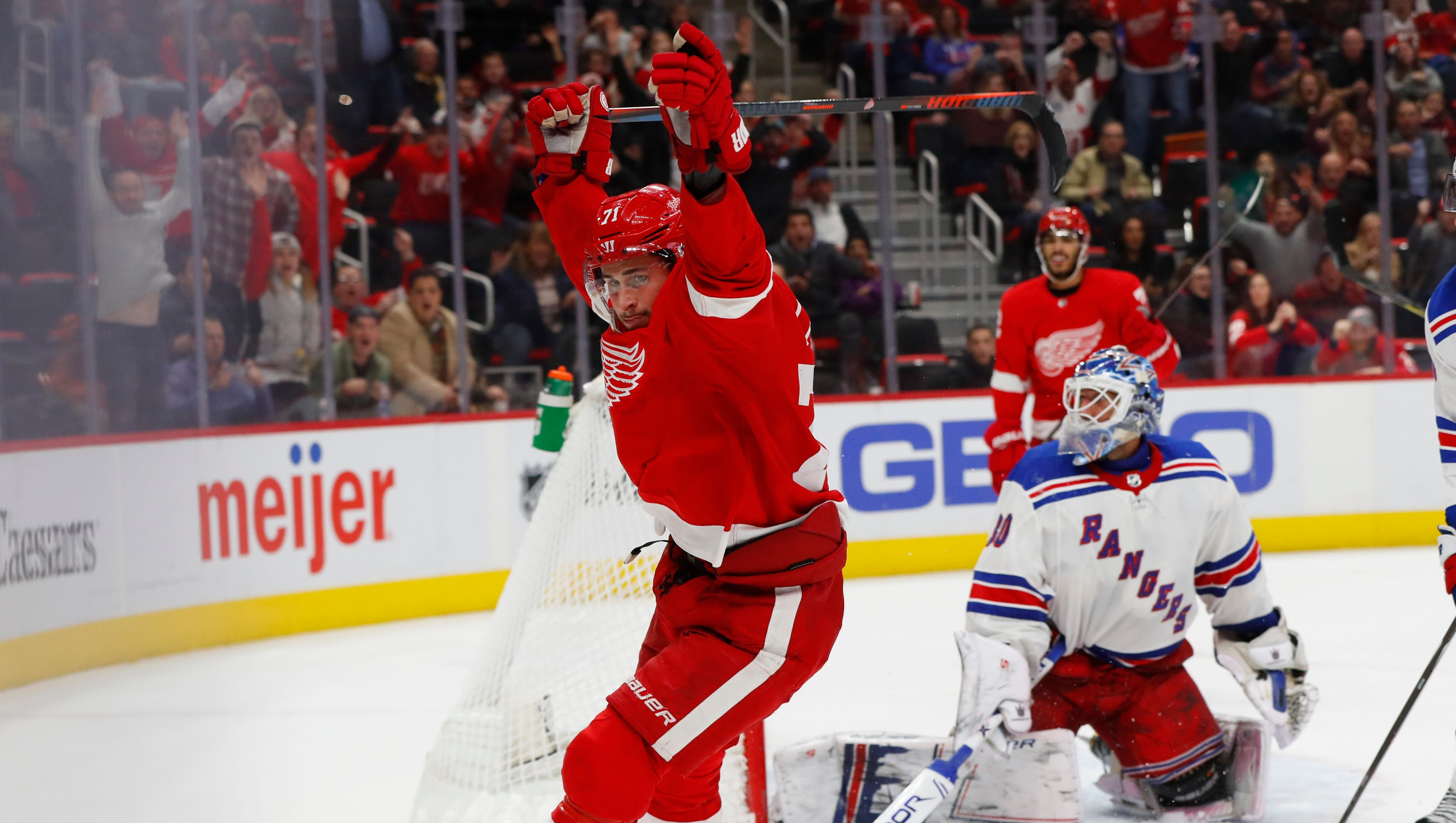 Dylan Larkin S Ot Goal Lifts Detroit Red Wings Past New York Rangers