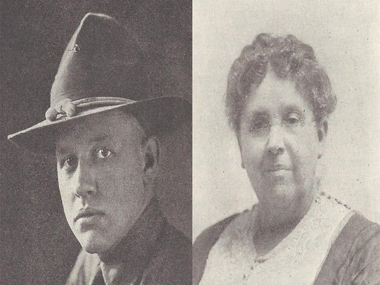 Chester Schulz and his mother Gertrude Schulz