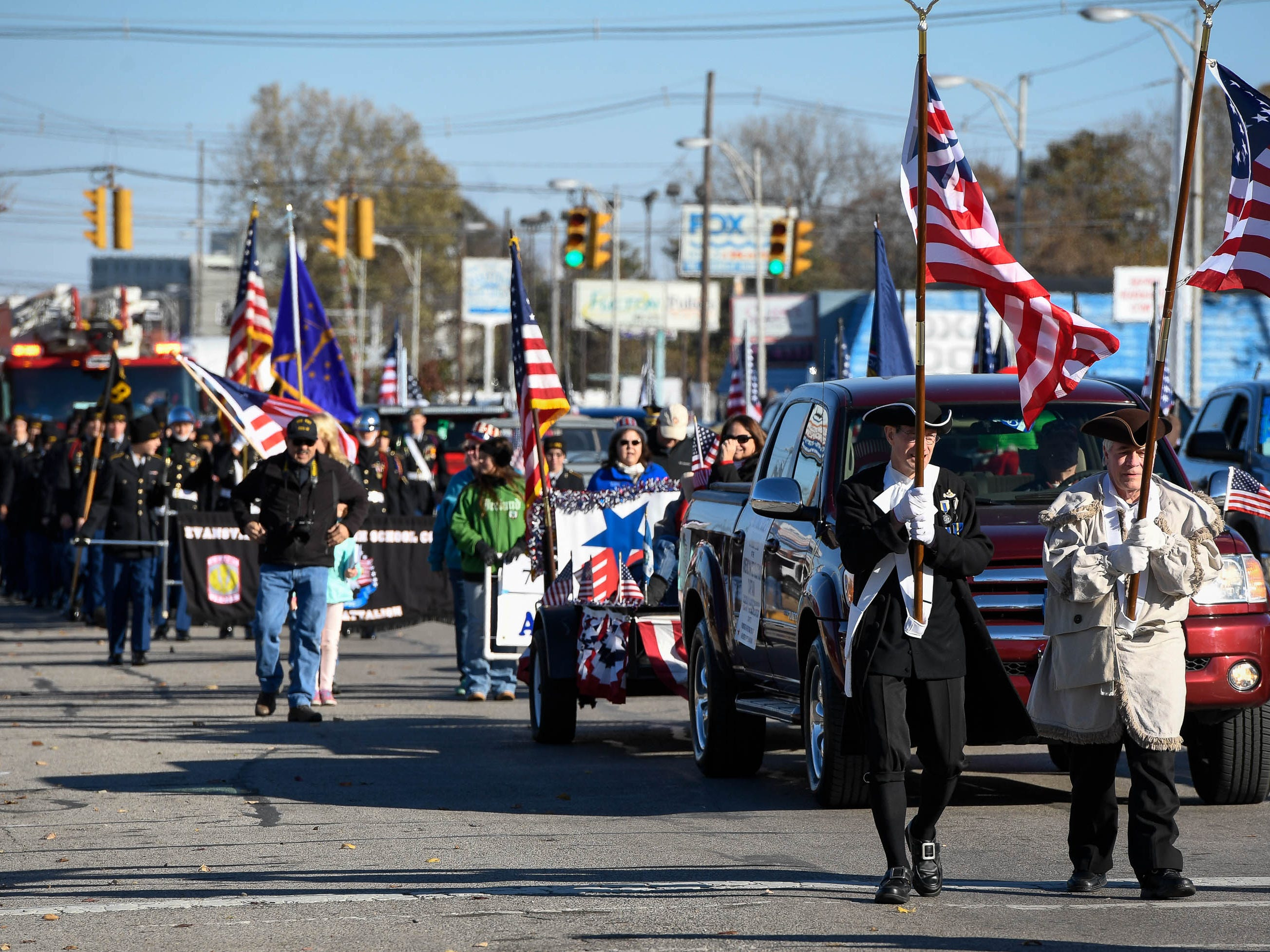 The annual Four Freedoms Veterans Parade on Evansville's West Franklin Street Saturday, November 10, 2018.