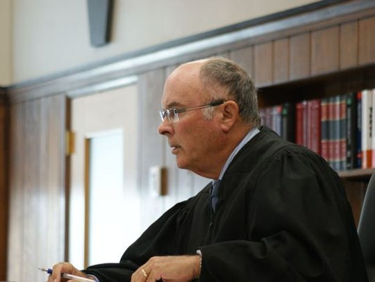 In this file photo, Sandusky County Common Pleas Court Judge John Dewey addresses concerns in the case against Daniel Myers, who pleaded guilty to the murder of Heather Bogle.