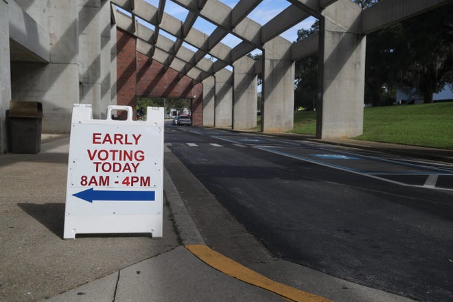 Early voting began Monday, Oct. 22, 2018 in the Donald L. Tucker Civic Center in Tallahassee, Fla.
